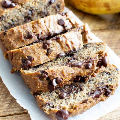 chocolate chip, banana & oat bread